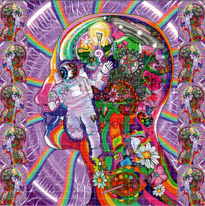 Psychedelic Astronaut Eyeball by Ellie Paisley Brooks - Signed, Numbered Limited Edition Blotter art