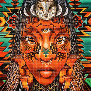 African Face By Zack Prestage Signed, Numbered Blotter art