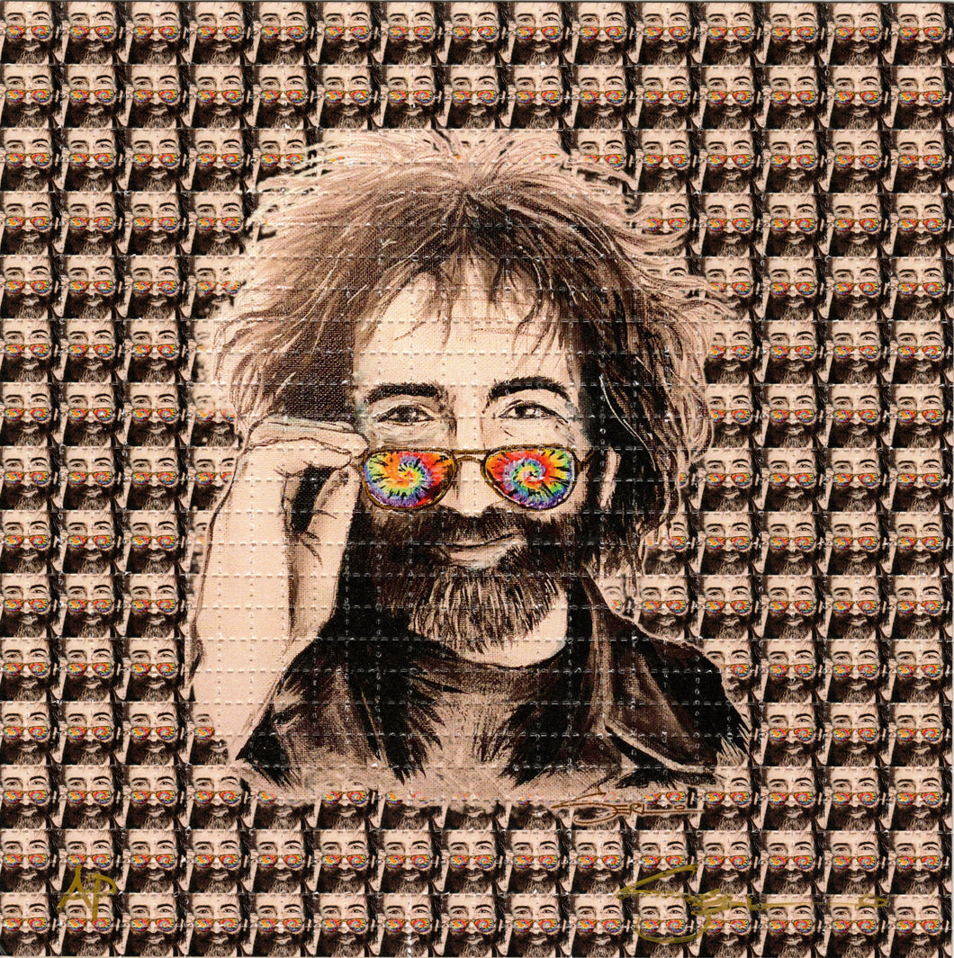 Jerry Garcia Peak By Mark Serlo Signed, Numbered Blotter art