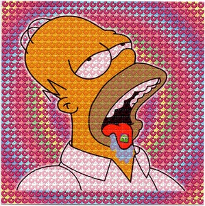 Homer Simpson Bicycle Day Donut Trip BLOTTER ART acid free perforated lsd paper