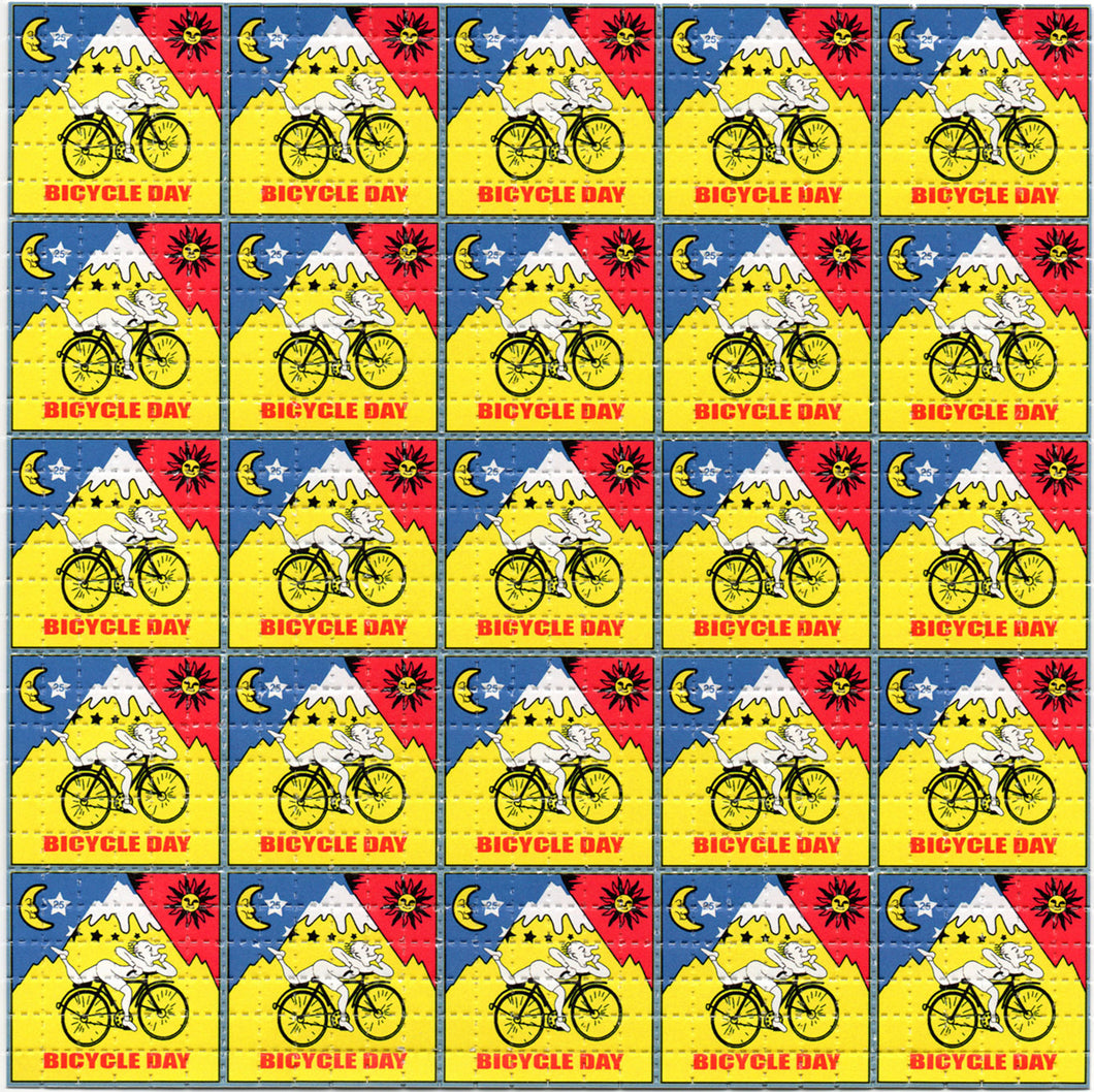 Red/Yellow Bicycle Day X36 Classic BLOTTER ART acid free perforated lsd paper