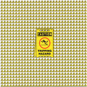 Tripping Hazard BLOTTER ART acid free perforated lsd paper