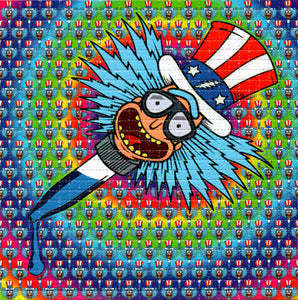 Rick Acid Dropper Rick and Morty Uncle Sam Grateful Dead BLOTTER ART acid free perforated lsd paper