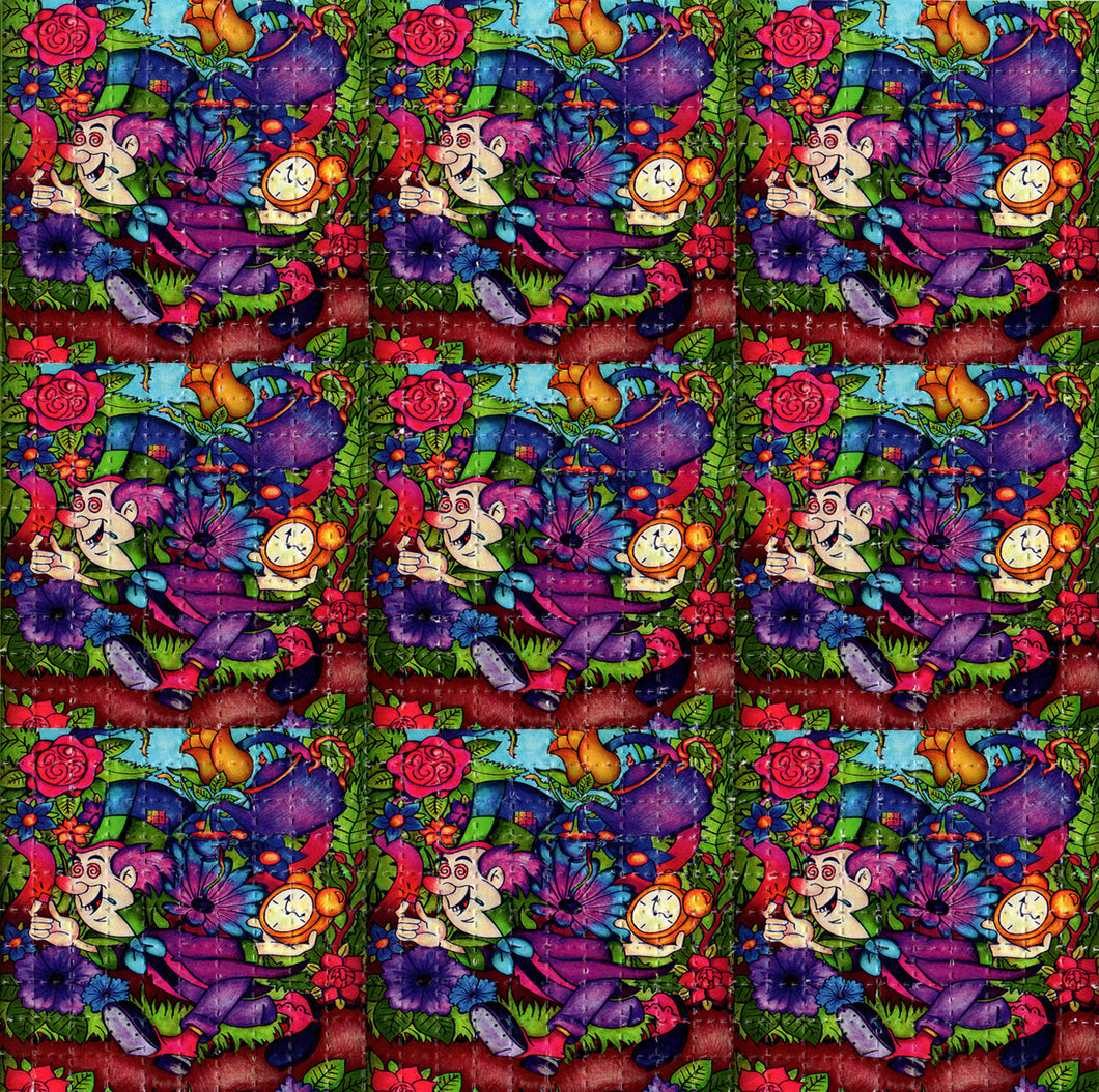 Mad Hatter X9 Alice in Wonderland X9 BLOTTER ART acid free perforated lsd paper