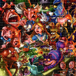 Alice Mad Tea Party in Wonderland BLOTTER ART acid free perforated lsd paper