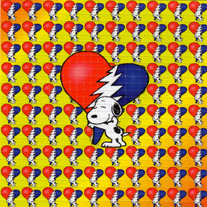 Snoopy Grateful Hearts BLOTTER ART acid free perforated lsd paper