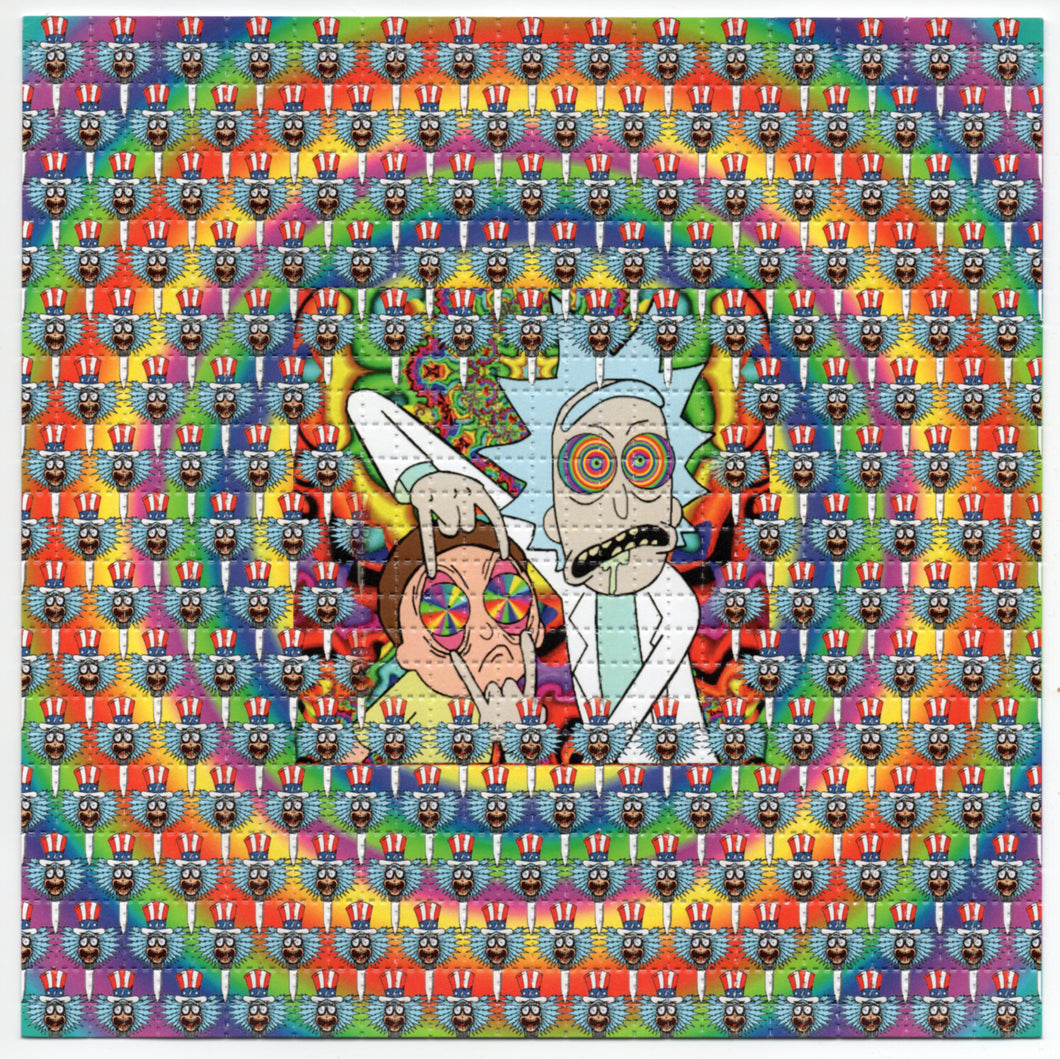 Rick and Morty Tripping Balls BLOTTER ART acid free perforated lsd paper
