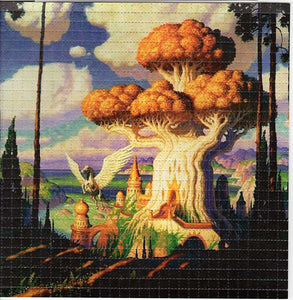 Fantasy Mushroom Castle BLOTTER ART acid free perforated lsd paper