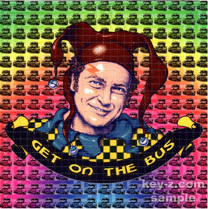 Ken Kesey Get On The Bus BLOTTER ART acid free perforated lsd paper