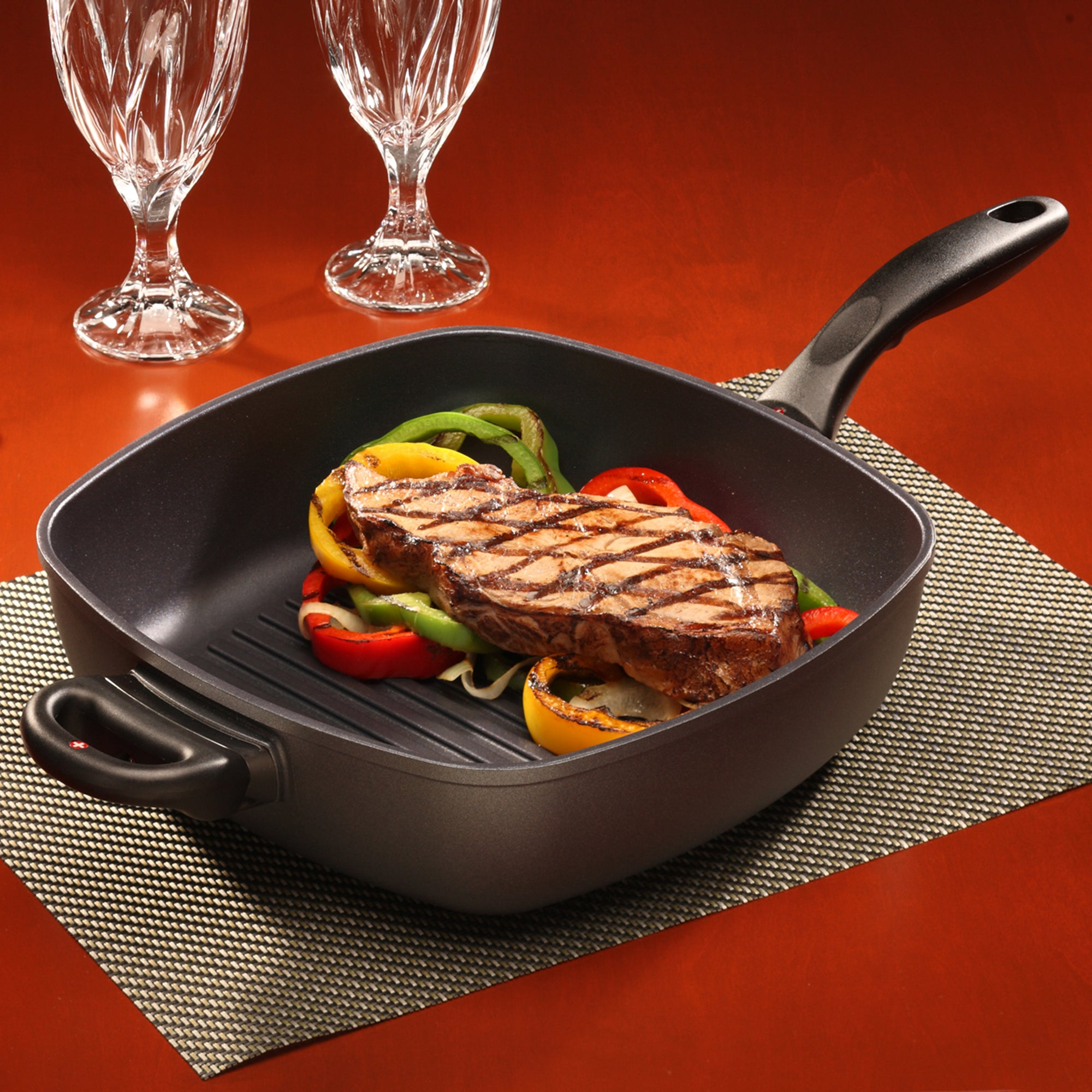 Deep Square Grill Pan 28 cm Induction | XD Nonstick