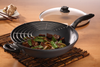 Nonstick Induction Wok with Lid and wire rack 32cm | HD Classic