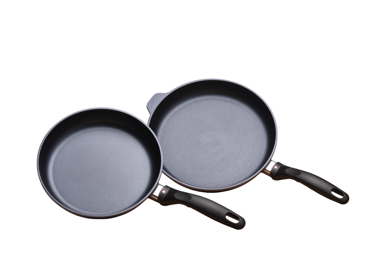 Nonstick Induction 2 Piece Set: 24 and 28 cm Fry Pan Duo | HD Classic
