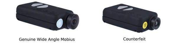 Counterfeit Camera Next To Genuine Mobius
