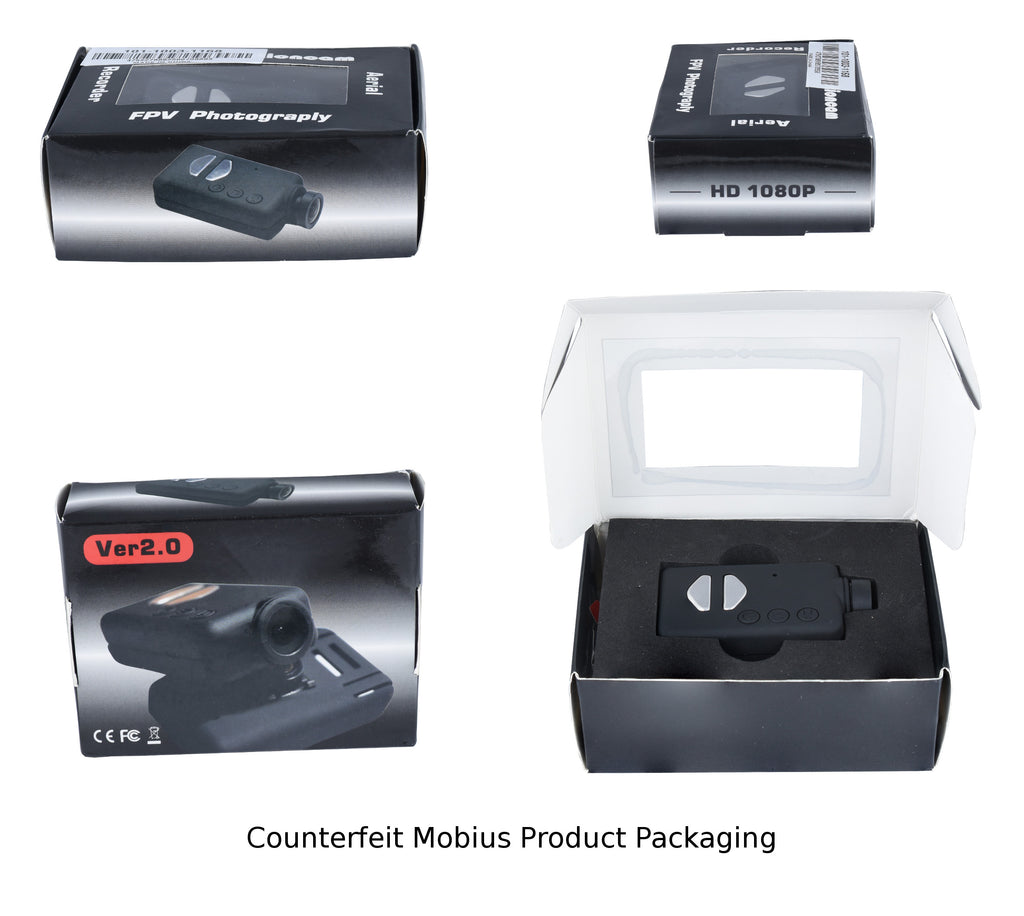 Counterfeit Mobius Product Packaging