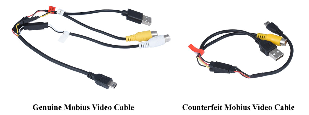 Genuine Mobius Video Cable Versus Counterfeit Mobius Video Cable