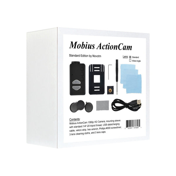 Mobius ActionCam 1080p Full HD Video Camera Standard Edition (V3 / Lens A2 / 820mAh)