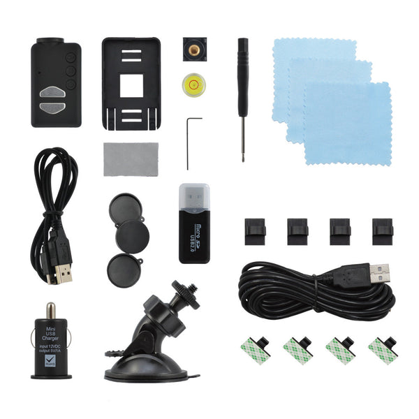 Mobius ActionCam Dash Camera Kit Contents