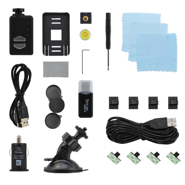 Wide Angle Mobius ActionCam Dash Cam Kit Contents