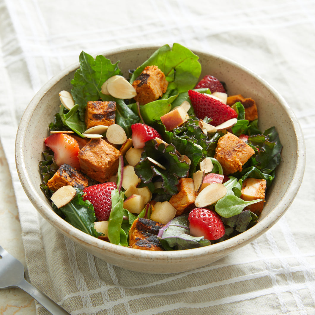 Apple and Strawberry Salad with Blackened Chicken by Brian Jupiter