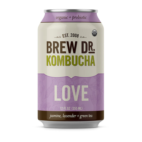 Image of Can of Brew Dr Kombucha - Love Flavor