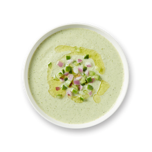 Load image into Gallery viewer, Chilled Cucumber Soup with Yogurt & Dill by Andrew Zimmern