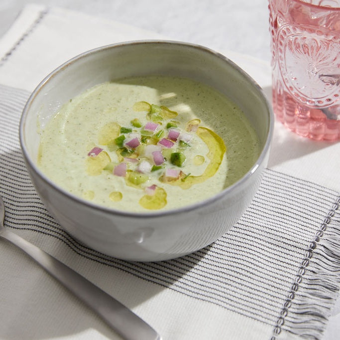 Chilled Cucumber Soup with Yogurt & Dill by Andrew Zimmern