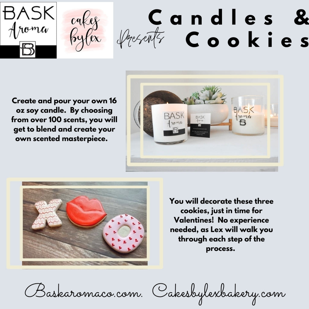 January 22 6-8 pm - Cookies and Candles