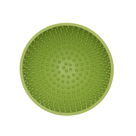 LickiMat Wobble Fun Slow Feeder Boredom Buster Anxiety Reliever Dogs. Dishwasher safe. Light Green.
