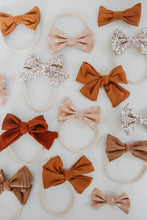 Load image into Gallery viewer, Caramel Hand-tied Bow Headband