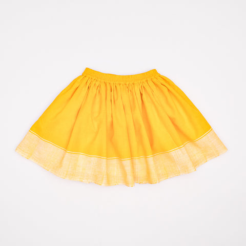 Midinette Skirt Sunflower Yellow Cotton Khadi