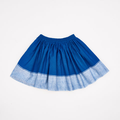 Midinette Skirt Indigo Blue Cotton Khadi