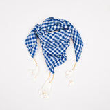Loulou scarf in handwoven cotton gingham