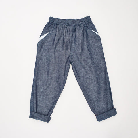 Dhaba Trousers in Cotton Chambray