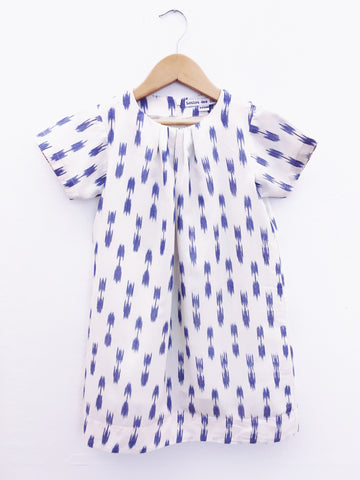 Constance Dress, Blue Tulip Ikat