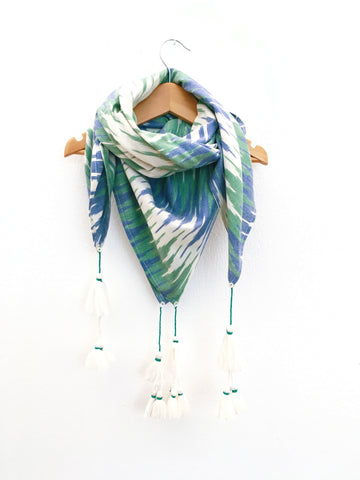 Loulou scarf, zigzag ikat