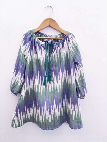 Sumatra Dress, Zigzag Ikat