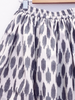 Midinette Skirt, Grey Clouds ikat