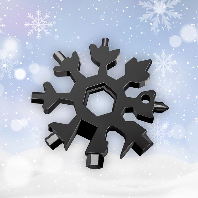SnowStar® 18-in-1 stainless steel snowflakes multi-tool - The 7th Tube