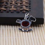925 sterling silver zircon pendant (no included chain)