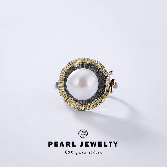Sterling silver 925 pearl ring