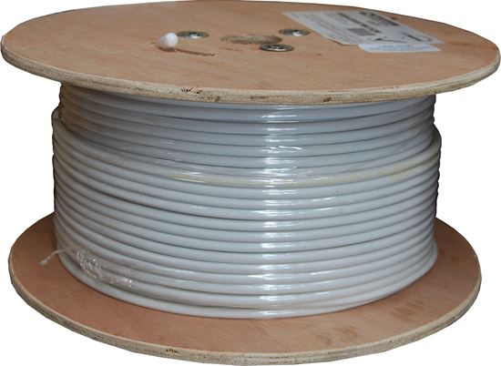 Picture of C-RG6-152-WH: 152m Roll RG6 Shielded Cable. White 75ohm. 18AWG solid core. core. Foil and braid shield. *** SKY APPROVED ***