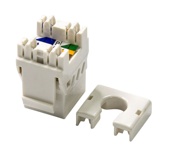 Picture of FP-C6AUTP-02: DYNAMIX Slimline Cat6A UTP jack. Colour White