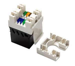 Picture of FP-C6AUTP-02BK: DYNAMIX Slimline Cat6A UTP jack. Colour Black