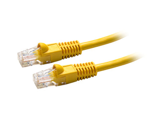 Picture of PLY-OEM-0: DYNAMIX 0.5m Cat5e OEM Yellow UTP Patch Lead (T568A Specification)