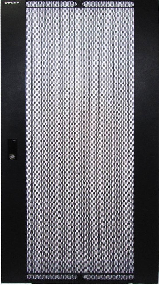 Picture of RMFD37-600Y: DYNAMIX Front Mesh Door for 37RU 600mm Wide Server Cabinet.