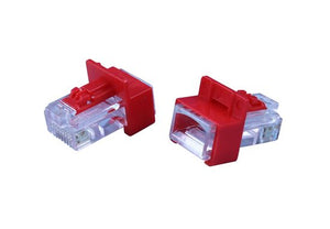 Picture of SPL-RJ45PL-20RED: DYNAMIX RJ45 Lock Plug. Secure RJ45 connections. Provide data security. Avoid hardware replacement. Compatible with standard RJ45 jack.