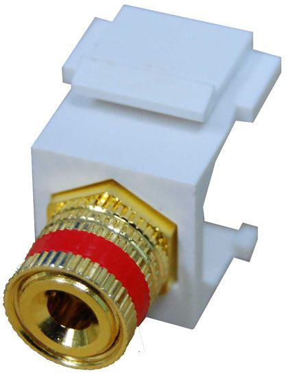 Picture of AVP-BINP-RE: DYNAMIX Red Speaker Binding Post, Keystone Adapter. Gold Plated