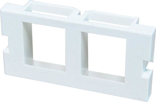 Picture of AVP-KEY-2P: DYNAMIX 2 Port Keystone Bezel for AVP-3UFP Plate