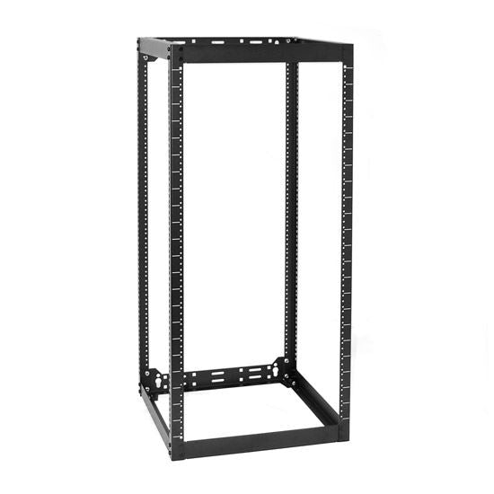 Picture of AVR2220: DYNAMIX 22RU Stackable AV Rack 520mmD x 525mmW x 1150mmH Open Frame with #10-32 apped Holes on 2.5mm thick Vertical Rails. Incl. #10-32 screws, stacking kit and leveling feet.