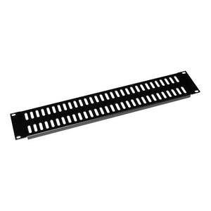 Picture of AVRVBP-2U: DYNAMIX AV Rack 2RU metal blanking panel with vented holes, with #10-32 and #10-32 screws